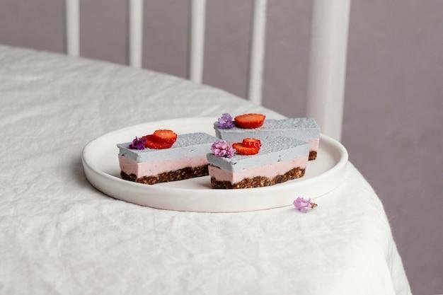Assortiment de délicieux gâteaux faits maison
