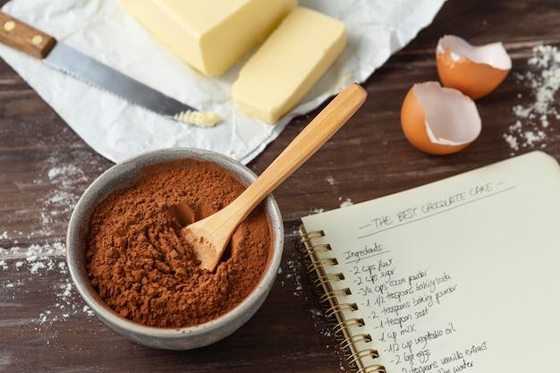 Assortiment de différents ingrédients pour une délicieuse recette