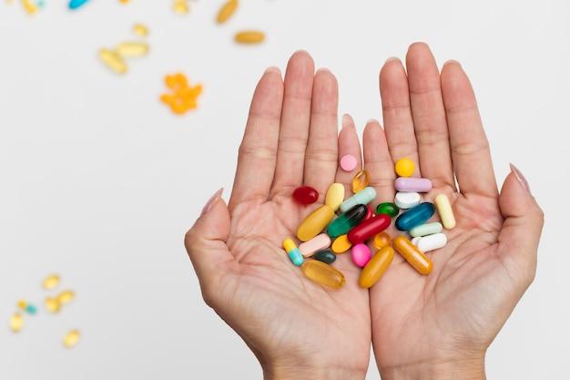 Assortiment de différents types de pilules