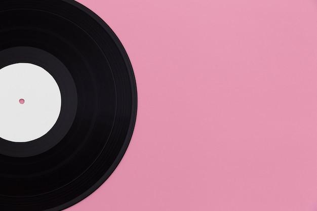Assortiment de disques vinyle vue de dessus