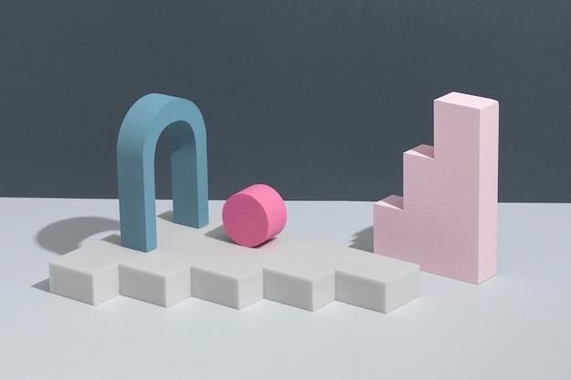 Assortiment d'éléments de conception 3d abstraits