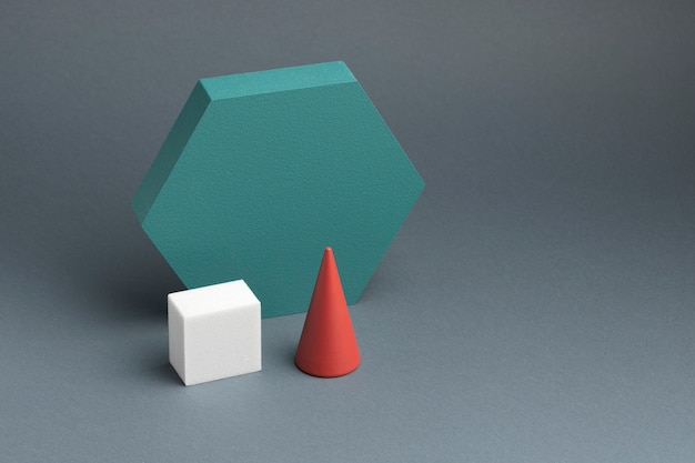 Assortiment d'éléments de conception abstraite en rendu 3d