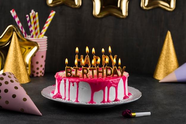 Assortiment de gâteaux aux bougies