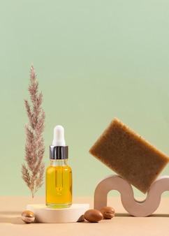 Assortiment d'huile d'argan en flacon compte-gouttes