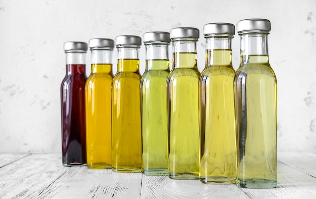 Assortiment d'huiles végétales