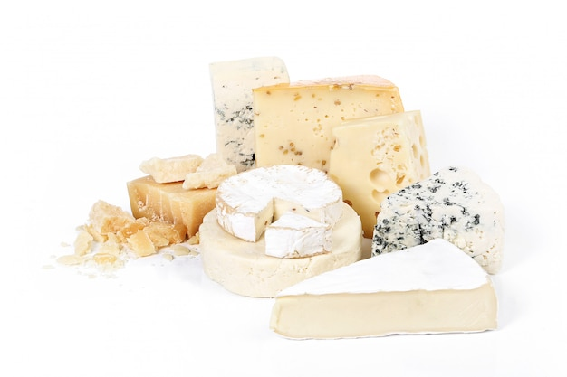 Assortiment de morceaux de fromage