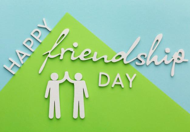 Assortiment nature morte pour la journée de l'amitié