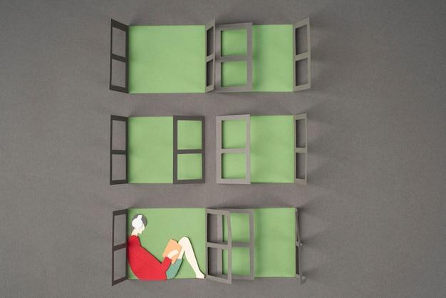 Assortiment de natures mortes d'isolement de style papier