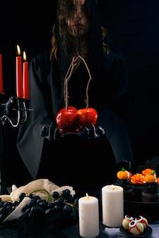 Assortiment de nourriture pour la fête d'halloween