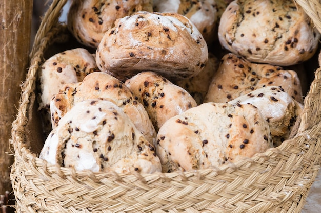 Assortiment de pain cuit