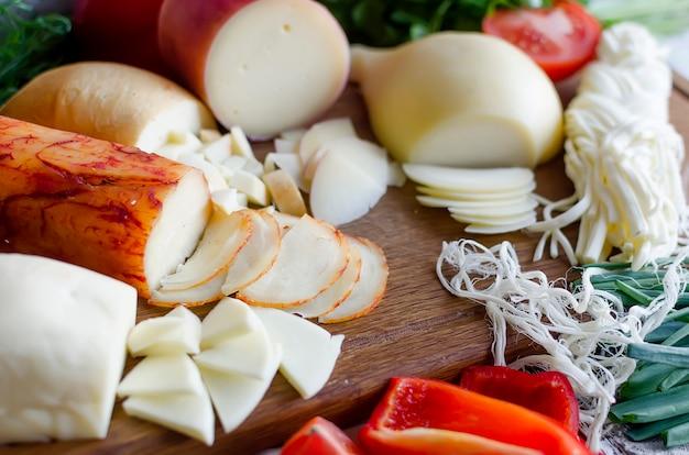 Assortiment de pâtes filata maison au fromage