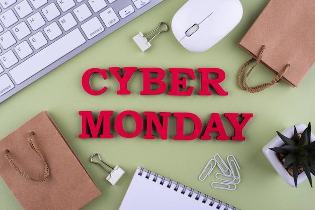 Assortiment plat du cyber lundi