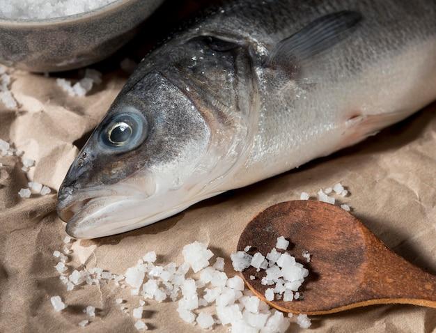 Assortiment de poisson cru pour la cuisine