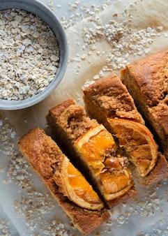 Assortiment de recette saine avec des oranges