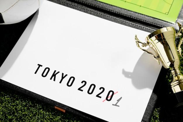 Assortiment reporté de l'événement sportif de tokyo 2020
