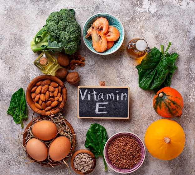 Assortiment sources de vitamine e