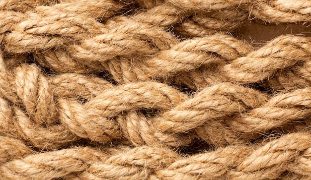 Assortiment de texture de corde vue de dessus