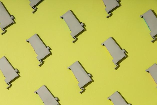 Assortiment de toners pour imprimantes à plat