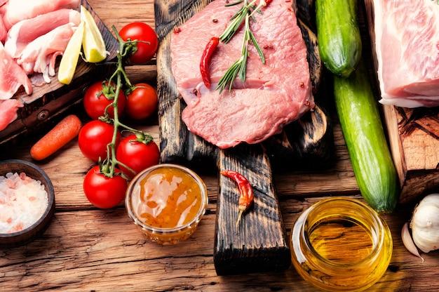 Assortiment de viande crue