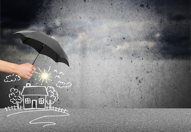Assurance vie et famille - concept de sécurité