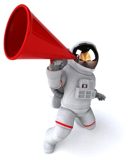 Astronaute amusant - illustration 3d