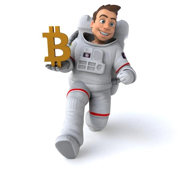 Astronaute amusant - illustration 3d