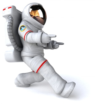 Astronaute - illustration 3d