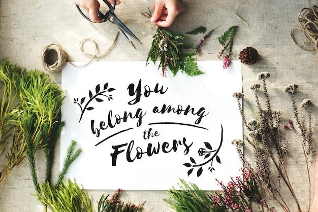 Atelier artisanal de fleurs