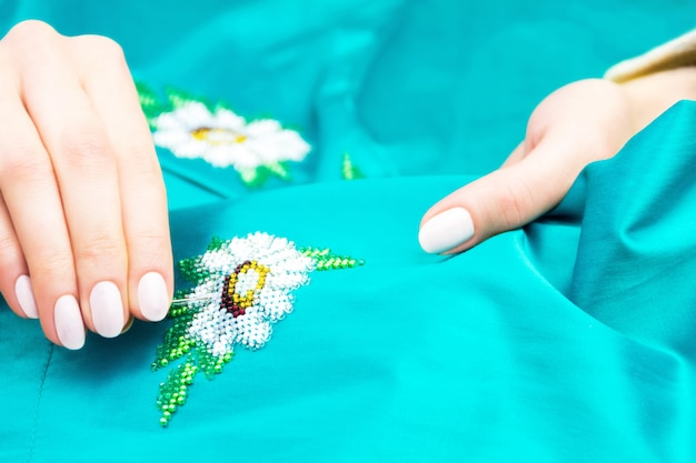 Atelier de couture et de broderie ou lieu de travail