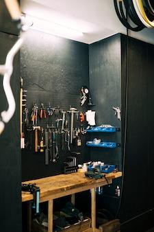 Atelier de réparation de vélo