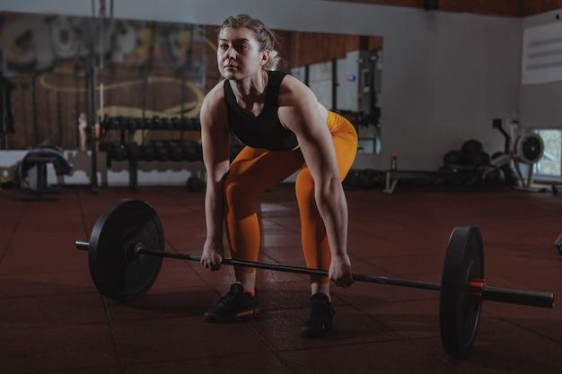 Athlète féminine de crossfit