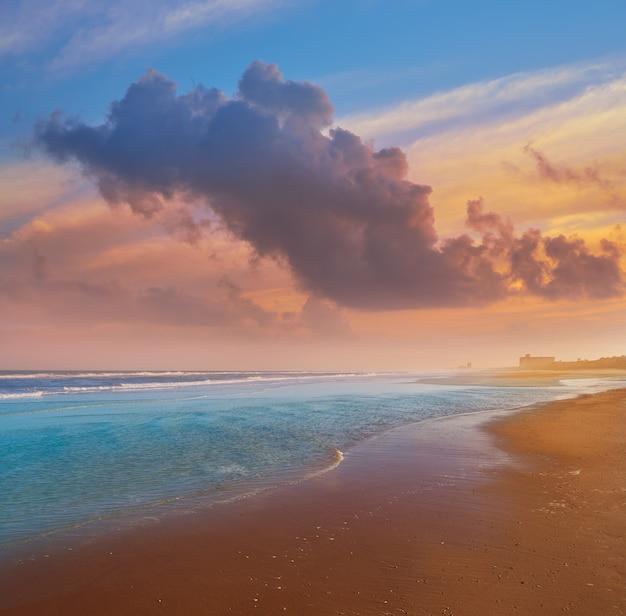 Atlantic beach à jacksonville, en floride, aux états-unis