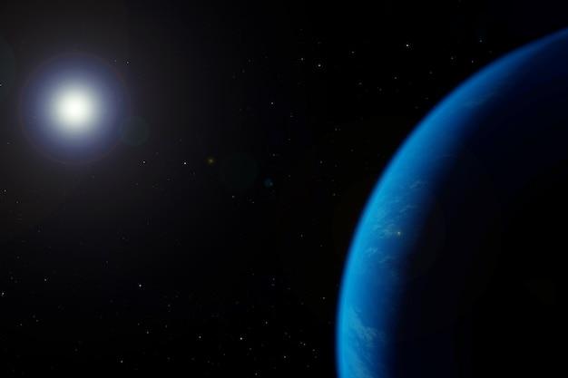 Atmosphère terrestre depuis l'espace sur fond sombre les éléments de cette image ont été fournis par la nasa