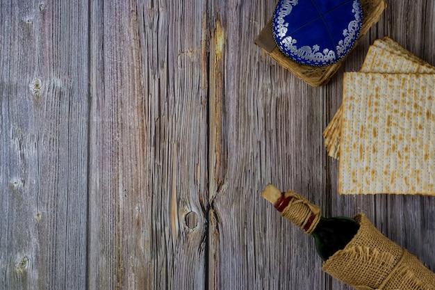 Attributs de la pesach juive dans la composition du vin et de la matsa de la pâque