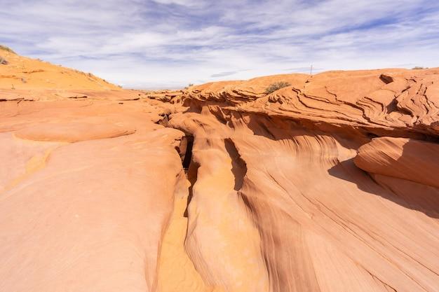 Au-dessus de la basse antelope canyon