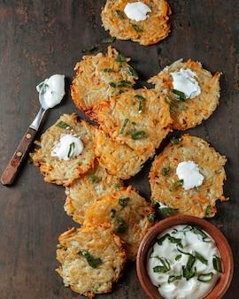 Au-dessus de la cuisine juive savoureuse