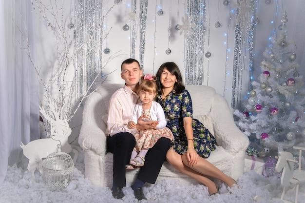 Au fond de la famille du nouvel an.