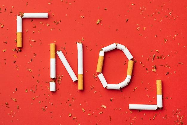 Aucun arrangement d'éléments de la journée du tabac