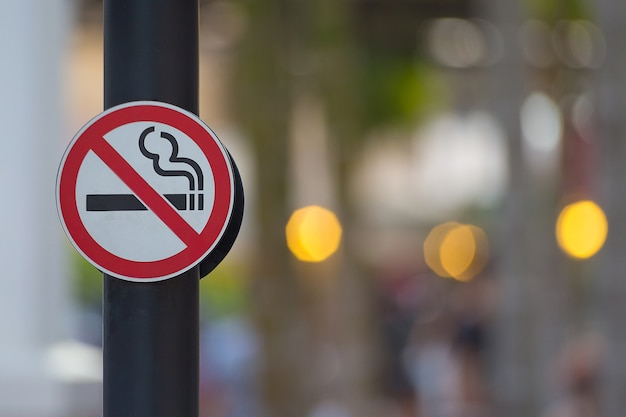 Aucun fond de signe de fumer