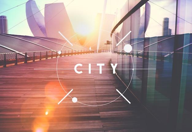 Aucun peuple bâtiment contemporain extérieur gratte-ciel design concept