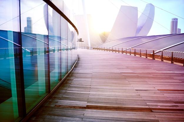 Aucun peuple concept de design de gratte-ciel extérieur de bâtiment contemporain