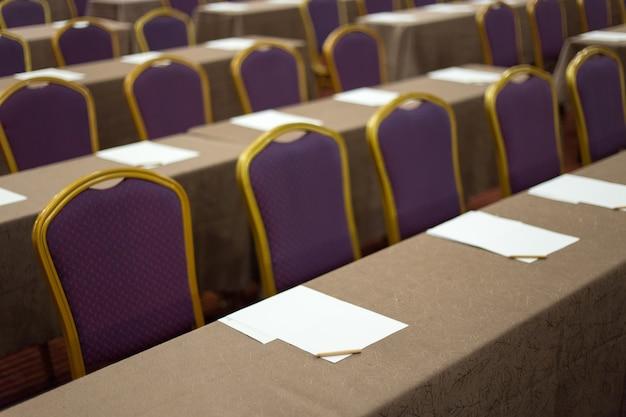 Audience dans la salle de conférence affaires et entrepreneuriat