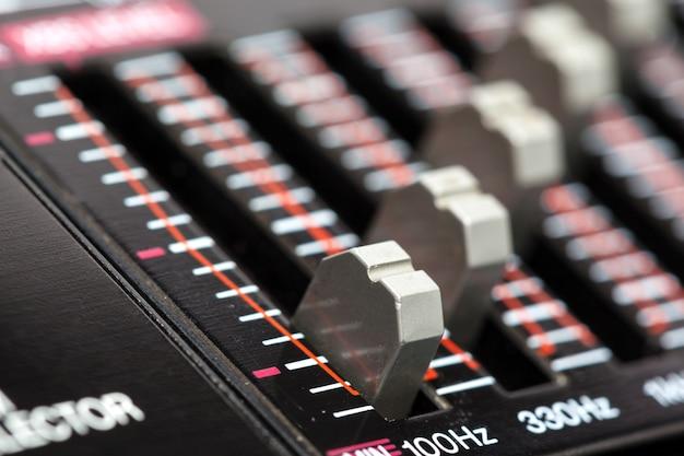 Audio stéréo vintage. fermer