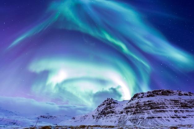 La aurore boréale islande