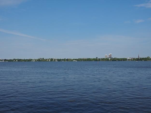 Aussenalster (lac extérieur de l'alster) à hambourg