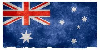Australia flag grunge