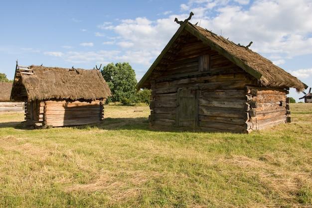 Authentique maison de village ukrainienne.