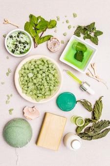 Auto-soins sains. mode de vie organique minimaliste. pharmacie confort et naturel