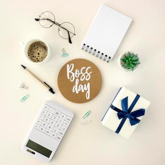 Autocollant et cadeau de jour de patron