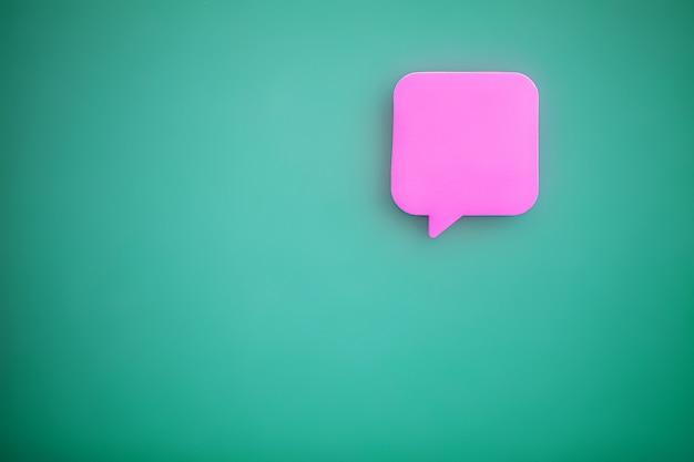 Autocollants sur mur vert. espace vide pour le texte